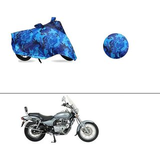 AutoStark Water Resistant Blue Bike Cover Bike Body Cover Military Design For Bajaj Avenger 220 DTS-i