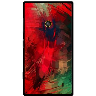 Snooky Printed Modern Art Mobile Back Cover For Nokia Lumia 520 - Red