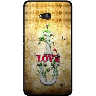 Snooky Printed I Love You Mobile Back Cover For Nokia Lumia 640 - Brown