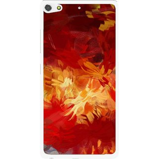 Snooky Printed Flamy Fire Mobile Back Cover For Gionee Elife S7 - Red
