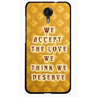 Snooky Printed Accept Love Mobile Back Cover For Micromax Canvas Xpress 2 E313 - Yellow
