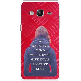 Snooky Printed Be Positive Mobile Back Cover For Samsung Tizen Z3 - Red