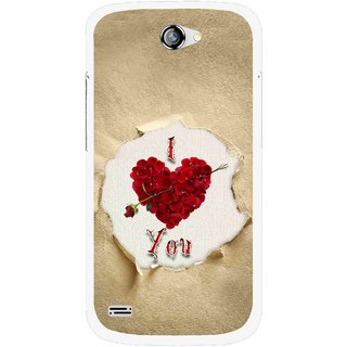 Snooky Printed Love Heart Mobile Back Cover For Gionee Pioneer P3 - Multi