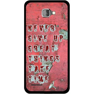 Snooky Printed Never Give Up Mobile Back Cover For Micromax Canvas Mad A94 - Red