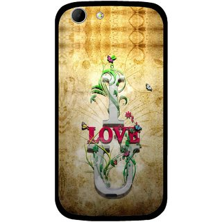 Snooky Printed I Love You Mobile Back Cover For Micromax Canvas 4 A210 - Brown