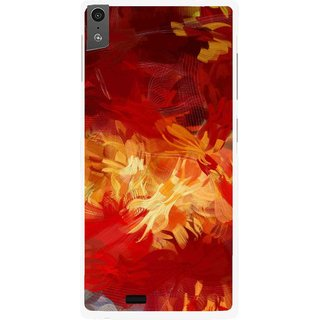Snooky Printed Flamy Fire Mobile Back Cover For Gionee Elife S5.5 - Red