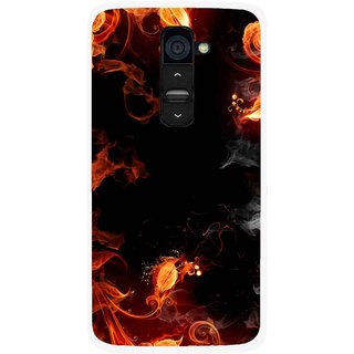 Snooky Printed Fire Lamp Mobile Back Cover For Lg G2 - Orange