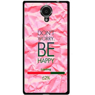 Snooky Printed Be Happy Mobile Back Cover For Gionee Elife E7 - Pink