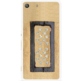 Snooky Printed Dice Mobile Back Cover For Sony Xperia M5 - Brown
