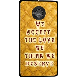 Snooky Printed Accept Love Mobile Back Cover For Micromax Yu Yuphoria - Yellow