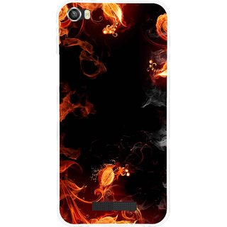 Snooky Printed Fire Lamp Mobile Back Cover For Lava Iris X8 - Orange