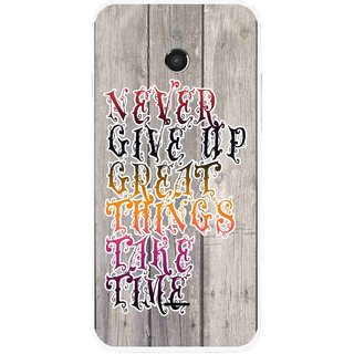 Snooky Printed Never Give Up Mobile Back Cover For Infocus M2 - Multi