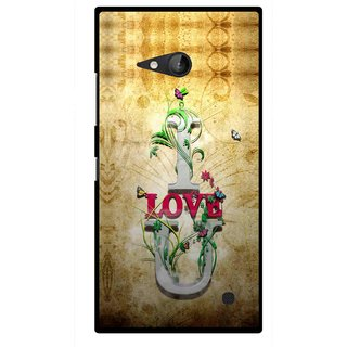 Snooky Printed I Love You Mobile Back Cover For Nokia Lumia 730 - Brown