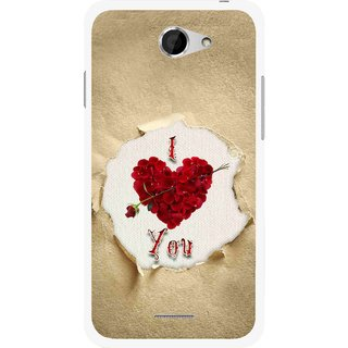 Snooky Printed Love Heart Mobile Back Cover For HTC Desire 516 - Multi