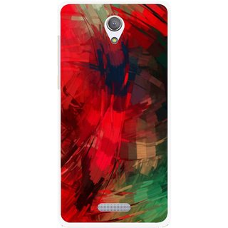 Snooky Printed Modern Art Mobile Back Cover For Gionee Marathon M4 - Red