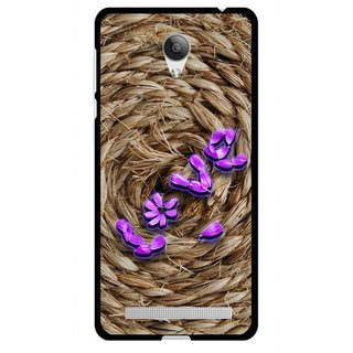Snooky Printed Love Rove Mobile Back Cover For Vivo Y28 - Brown