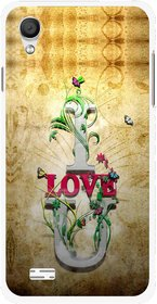 Snooky Printed I Love You Mobile Back Cover For Vivo Y11 - Brown
