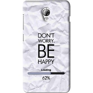 outlet store 7d6c4 eeaed Snooky Printed Be Happy Mobile Back Cover For Lenovo Vibe P1 - Grey