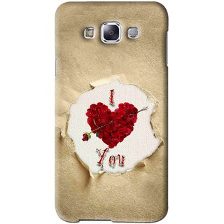Snooky Printed Love Heart Mobile Back Cover For Samsung Galaxy A7 - Multi
