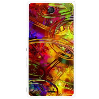 Snooky Printed Vibgyor Mobile Back Cover For Sony Xperia ZR - Multi