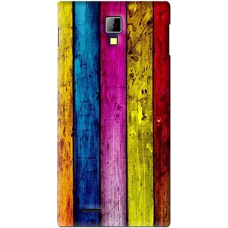 Snooky Printed Stylo Stripe Mobile Back Cover For Micromax Canvas Xpress A99 - Multi