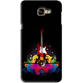Snooky Printed Rainbow Music Mobile Back Cover For Samsung Galaxy A9 - Black