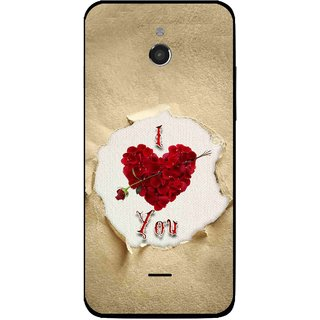 Snooky Printed Love Heart Mobile Back Cover For Infocus M2 - Multi