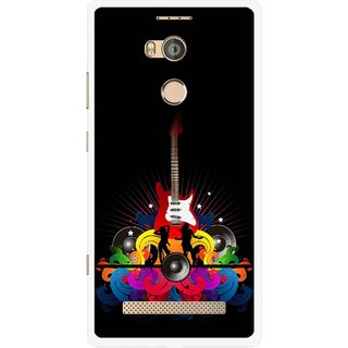 Snooky Printed Rainbow Music Mobile Back Cover For Gionee Elife E8 - Black
