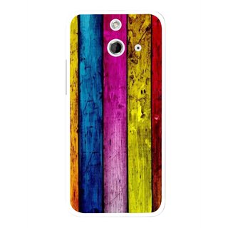 Snooky Printed Stylo Stripe Mobile Back Cover For HTC One E8 - Multi