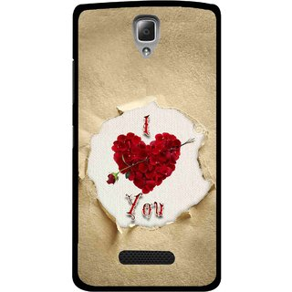 Snooky Printed Love Heart Mobile Back Cover For Lenovo A2010 - Multi
