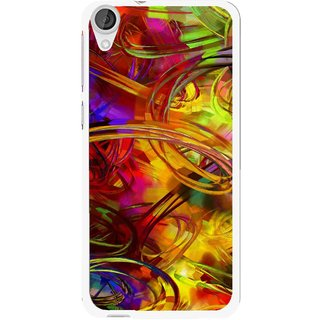 Snooky Printed Vibgyor Mobile Back Cover For HTC Desire 820 - Multi