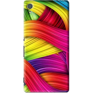 Snooky Printed Color Waves Mobile Back Cover For Sony Xperia Z4 - Multi