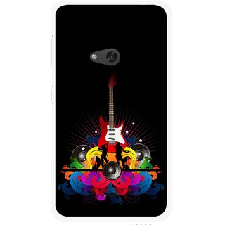 Snooky Printed Rainbow Music Mobile Back Cover For Nokia Lumia 625 - Black