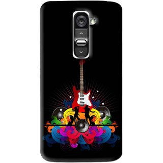 Snooky Printed Rainbow Music Mobile Back Cover For Lg G2 Mini - Black