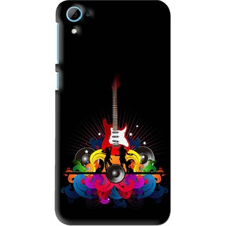 Snooky Printed Rainbow Music Mobile Back Cover For HTC Desire 826 - Black