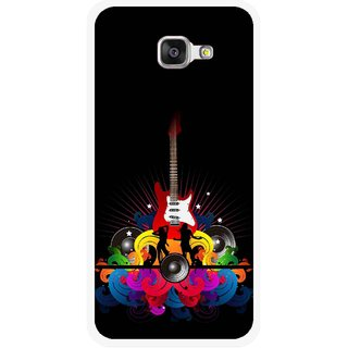 Snooky Printed Rainbow Music Mobile Back Cover For Samsung Galaxy A5 2016 - Black