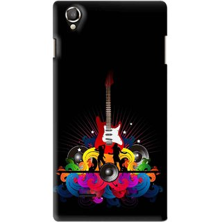 Snooky Printed Rainbow Music Mobile Back Cover For Lava Iris 800 - Black