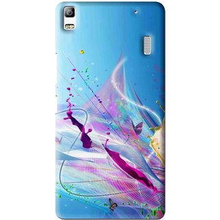 Snooky Printed Blooming Color Mobile Back Cover For Lenovo A7000 - Multi