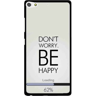 Snooky Printed Be Happy Mobile Back Cover For Gionee Elife S7 - Grey
