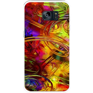 Snooky Printed Vibgyor Mobile Back Cover For Samsung Galaxy S7 Edge - Multi