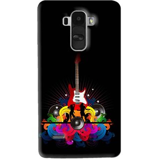 Snooky Printed Rainbow Music Mobile Back Cover For Lg G4 Stylus - Black