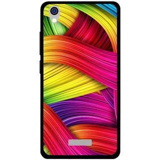 Snooky Printed Color Waves Mobile Back Cover For Lava Iris X9 - Multi