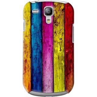 Snooky Printed Stylo Stripe Mobile Back Cover For Samsung Galaxy S3 Mini - Multi