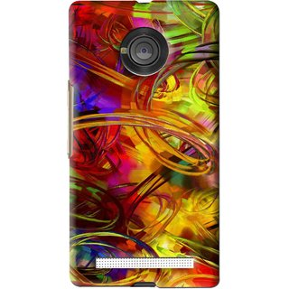 Snooky Printed Vibgyor Mobile Back Cover For Micromax Yu Yuphoria - Multi