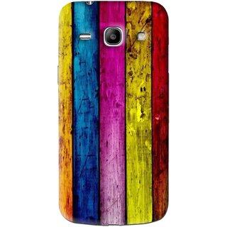 Snooky Printed Stylo Stripe Mobile Back Cover For Samsung Galaxy Star Advance SM G350E - Multi