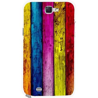 Snooky Printed Stylo Stripe Mobile Back Cover For Samsung Galaxy Note 2 - Multi