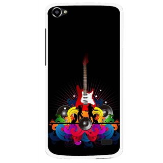 Snooky Printed Rainbow Music Mobile Back Cover For Intex Aqua Star 2 HD - Black