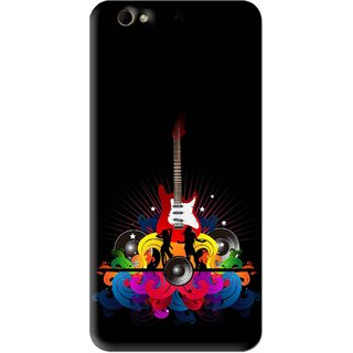 Snooky Printed Rainbow Music Mobile Back Cover For Gionee Elife S6 - Black