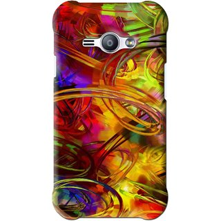 Snooky Printed Vibgyor Mobile Back Cover For Samsung Galaxy Ace J1 - Multi