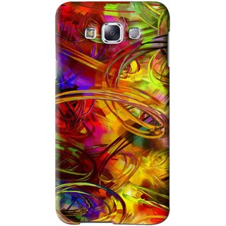 Snooky Printed Vibgyor Mobile Back Cover For Samsung Galaxy E7 - Multi